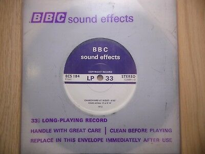 """BBC Sound Effects 7"""" Record - Churchyard at Night, Rooks in Treetops, Scary!!"""