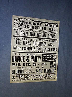 COLORCRAFT 1975 SCHROEDER HALL HOLIDAY DANCES POSTER Harry Czarnek ED JUNOT