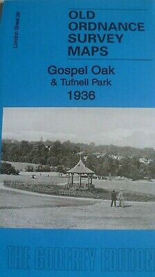 OLD Ordnance Survey Maps Gospel Oak & Tufnell Park  London 1936 Godfrey Edition