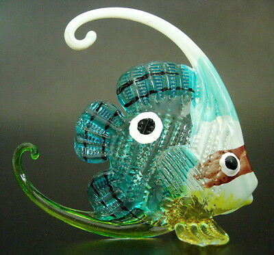 Curio MEDIUM Size Glass FISH Decorative Painted Glass Ornament Glass Animal Gift