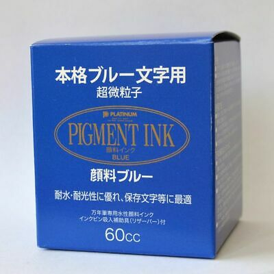 Tinta Platinum Permanente Pigment Ink Color Azul 60 Cc.