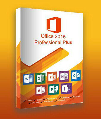 Microsoft Office 2016 PROFESSIONAL PLUS MS Pro for windows Key  30 s Delivery