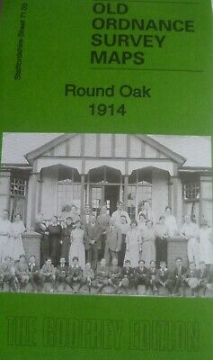 Old Ordnance Survey Detailed Maps Round Oak  Staffordshire  1914 Godfrey Edition