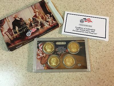 2007 S Proof Presidential Dollar Set with Box and COA