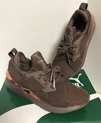 7aac9c8b3f8 New In Box Puma Muse Brown Textured Rose Gold Women s Sneakers Shoes Size 7