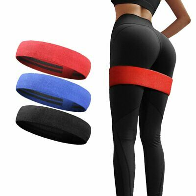 Resistance Hip Circle Band Booty Exercise Glute Non Slip Peach Glute Loop Ban EB