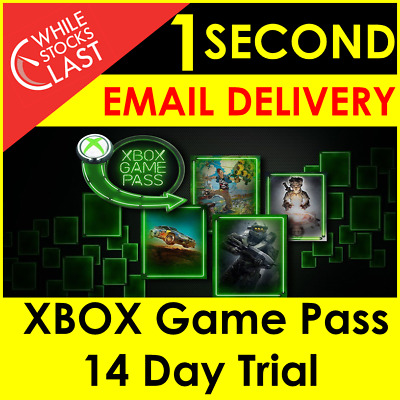 INSTANT Email Delivery- Xbox Game Pass 14 Days 2 Weeks Trial Key WORLDWIDE