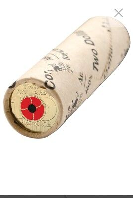 $2 two dollar Remembrance Day Poppy Armistice Centenary RAM Mint Roll Limited