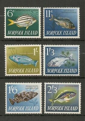 NORFOLK ISLAND 1962 Very Fine MNH Stamps Scott #50/60 CV 12.05 $  Fish set