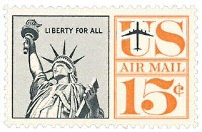 C63 - Statue of Liberty - US Mint Airmail Stamp