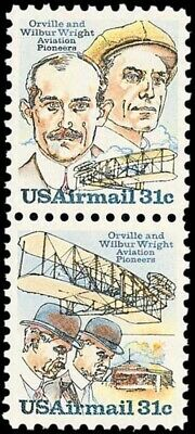 C91-92 - Wright Brothers - US Mint Airmail Stamps