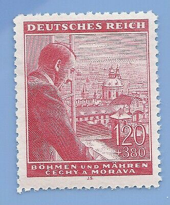 Nazi Germany Third Reich Nazi B&M Hitler 120+380 stamp MNH WW2 ERA