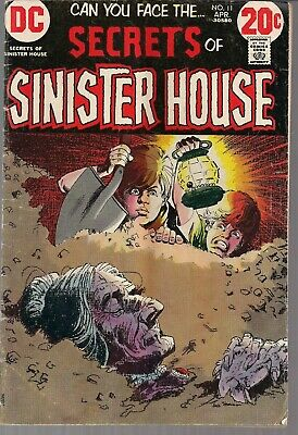 "Secrets Of Sinister House #11 Dc 1973 Horror ""death Island"" + ""the Enemy""+ Vg/fn"