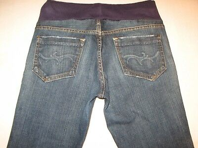 GoldSign Goldschmied Bootcut Maternity Jeans Sz 27 w Stretch Distressed L 30.5