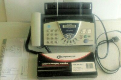 Brother Fax-575 Personal Fax-Phone-Copier + Extra Toner Cartridge IVR-PC501