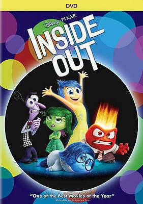 Inside Out Disney PIXAR Cartoon DVD 2015,Factory Sealed *Excellent Family Film*
