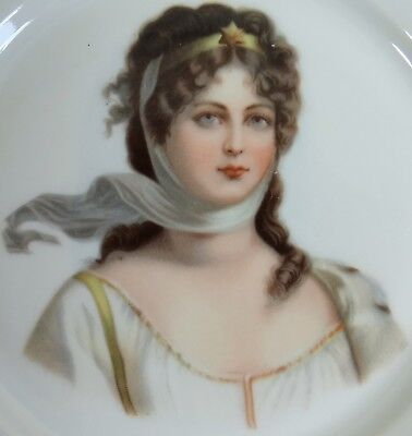 Victorian Lady Collector Plate Antique Vtg 1890s to 1900s Stunning Star Crown