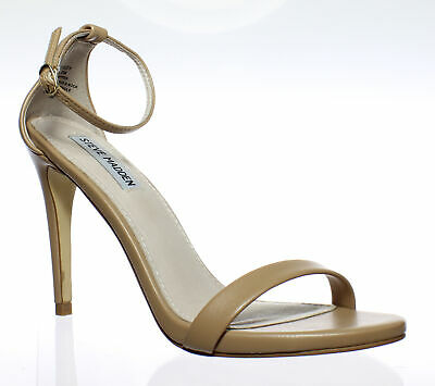 f0e876980fd Steve Madden Womens Stecy Natural Ankle Strap Heels Size 8.5 (14628)