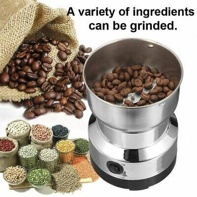 Electric 220V Coffee Grinder Grinding Milling Bean Nut Spice Matte Blender UK