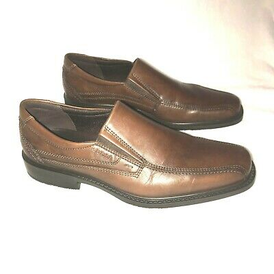 9b73a24a37f18 ECCO MENS Brown Leather Loafer Slip On Shoes Oxford US 10 - 10.5 ...