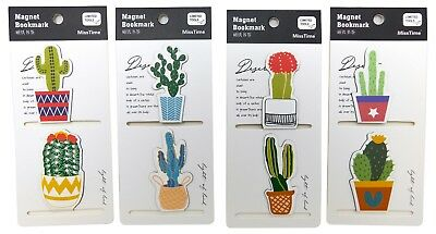 Magnet Bookmark Plantation Shape (Cactus) - Cute and Adorable (Pack of 8)