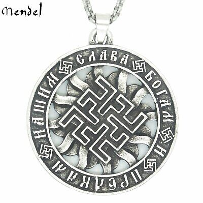 MENDEL VIKING MENDS Necklace Pendant Amulet Thunder God Thor Rune Sigil  Symbol