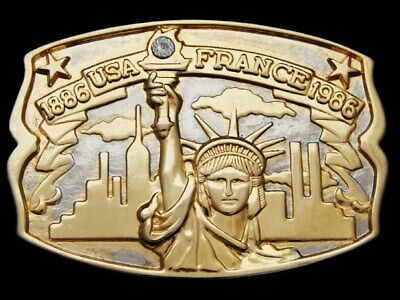 Jh15138 Vintage 1986 **Usa - France Statue Of Liberty** 100 Years Belt Buckle