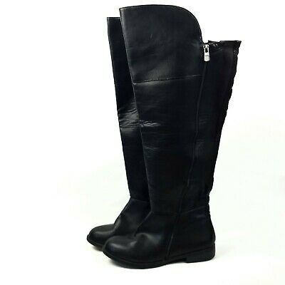 efaa5b0d98a Lane Bryant Over the Knee High Boots 9W Black Synthetic Flat Heel Wide Calf  W12