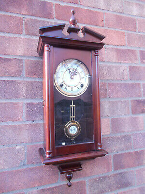 Small Vienna Spring Driven Regulator 8-Day Wall Clock by Highlands