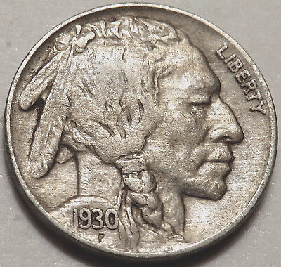 1930 Buffalo/indian Nickel. Extra Fine Coin. Full Horn & Bold Details. #944