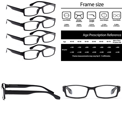 LADIES PLASTIC PASTEL reading glasses pick strength +100 and up free