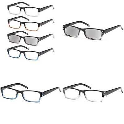 9497a21ca9ce GAMMA RAY 5 Pairs Spring Hinge Reading Glasses Unisex Readers with ...