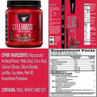 BSN CELLMASS 2.0 Post Workout Recovery W BCAA Creatine & Glutamine Keto Friendly