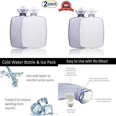 d892e50ecf Hot Water Bottle 2Pack – Comfortably Sleep W Maximum Warmth Soothe All Types  Of