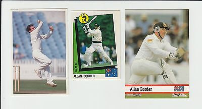 Cricket : Allan Border : Australia : UK sports card group