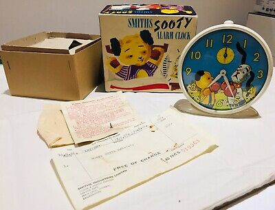 """Vintage 1966 """"smiths"""" Automata - """"sooty And Sweep"""" - Alarm Clock"""