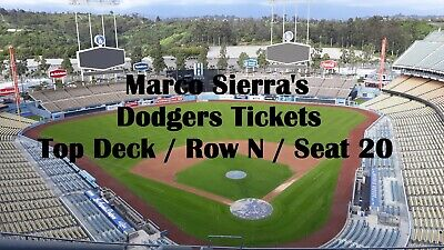 Arizona Diamondbacks vs Los Angeles Dodgers 2019 Opening Day One Ticket 3/28/19