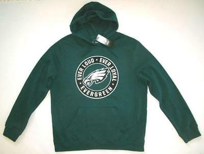 MAJESTIC PHILADELPHIA EAGLES Men's Evergreen Pullover Hoodie Large  for cheap