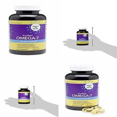 Purified OMEGA 7. The Healthy Fat In Fish & Macadamia. 210 Mg Omega 7 Per Pill A