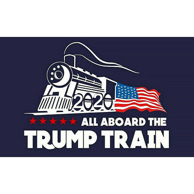 5Pcs/set Blue Donald Trump Bumper Sticker 2020 All Aboard The Trump Train