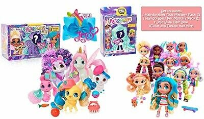 Ropeastar Hairdorables Collectible Mystery Doll and Pet with JoJo Siwa Hair Bow,