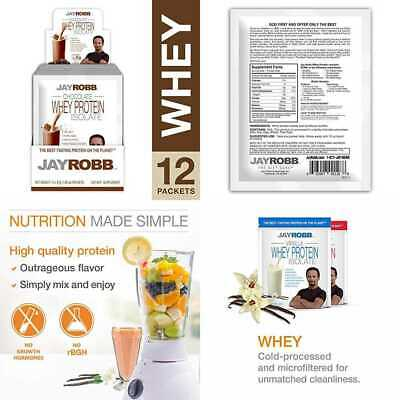 Jay Robb Grass Fed Whey Protein Isolate Powder Outrageously Delicious CHOCOLATE