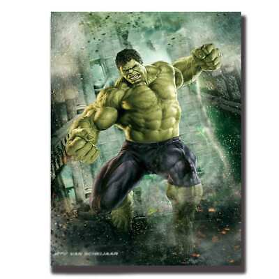 Art Hulk The Avengers Marvel Superheroes Movie-Fabric-POSTER 8x12 24x36 hot gift