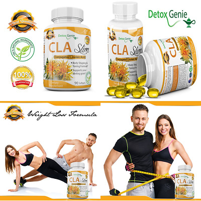 CLA Safflower Oil Conjugated Linoleic Acid Non Stimulant Fat Burner & Ab Muscle
