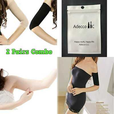 2 Pair Slimming Compression Arm Shaper Helps Tone Shape Upper Arms Sleeve