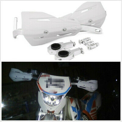 1 Set White Motorcycle ATVs 28mm 22mm Handlebar Protection Handguard+Fitting Kit