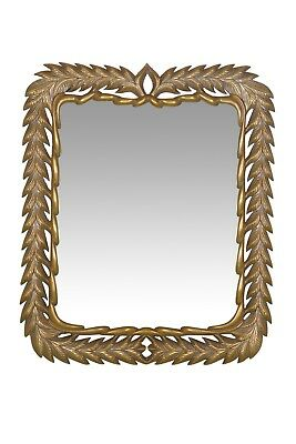 Vintage, French Style, Gold Leaf, Hand Carved Wall Mirror