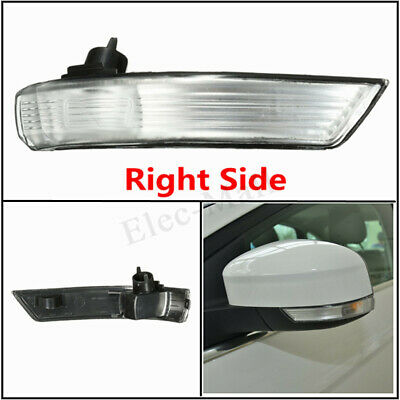 Left Side Wing Mirror Turn Signal Indicator Light Cover For Ford Fiesta 2009-15