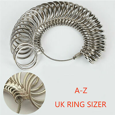 Finger Ring Sizer Gauge Measure All Sizes A-Z Plastic 26Pc Reuseble Jewelry Tool