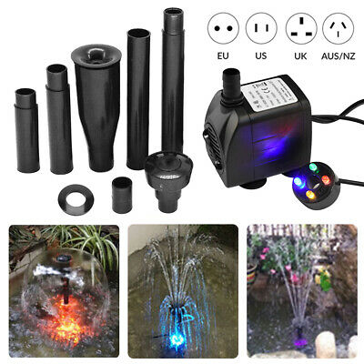 LED Hidom Submersible Water Pump For Aquarium Fish Tank Water Feature Optional